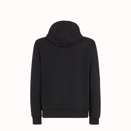 FENDI Hoodies Pullovers Street Style Long Sleeves Plain Cotton Hoodies 3