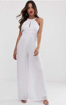 Sleeveless Halter Neck Long Elegant Style Dresses