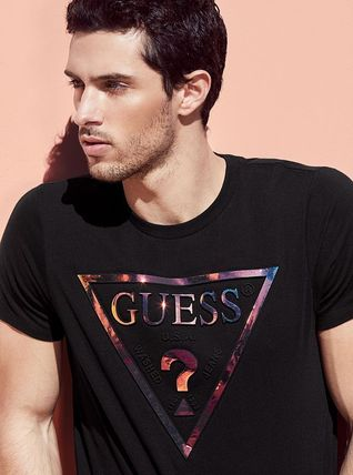 Guess Crew Neck Crew Neck Stripes Cotton Short Sleeves Crew Neck T-Shirts 6