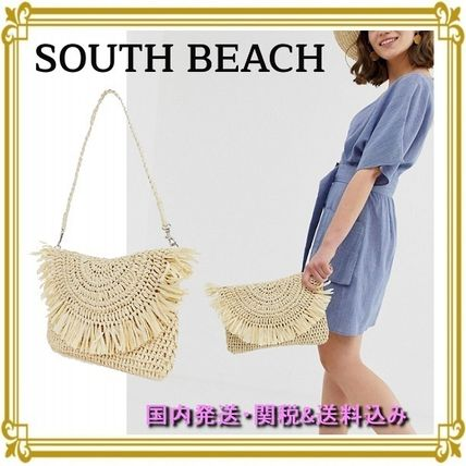 Casual Style 2WAY Plain Clutches