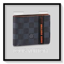 Louis Vuitton Other Check Patterns Canvas Blended Fabrics Folding Wallets