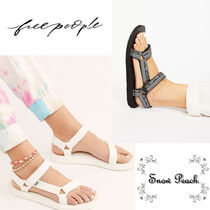 Free People Casual Style Plain Flat Sandals