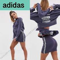 adidas Casual Style Long Sleeves Plain Dresses