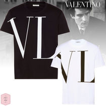 VALENTINO VLTN Crew Neck Pullovers Street Style Plain Other Animal Patterns