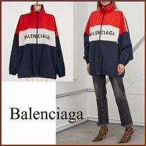 BALENCIAGA Stripes Casual Style Unisex Street Style Medium Oversized