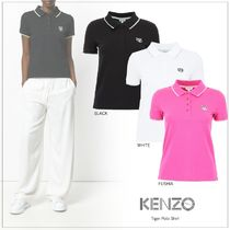 KENZO Casual Style Street Style Plain Cotton Medium Short Sleeves
