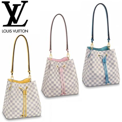 bf6f3e62 Louis Vuitton NEONOE 2019 SS Other Check Patterns Canvas Purses Elegant  Style (N40152, N40153, N40151)