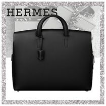 HERMES Plain Leather Business & Briefcases