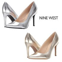 Nine West Plain Pin Heels Elegant Style Stiletto Pumps & Mules