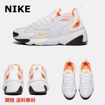 Nike AIR ZOOM Round Toe Lace-up Casual Style Plain Low-Top Sneakers