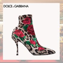 Dolce & Gabbana Flower Patterns Leopard Patterns Blended Fabrics Pin Heels