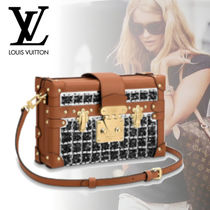 Louis Vuitton PETITE MALLE Other Check Patterns Canvas Blended Fabrics 2WAY