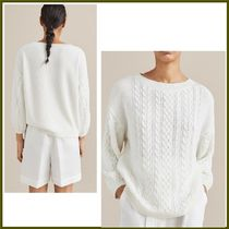 Massimo Dutti Casual Style Long Sleeves Cotton Medium Sweaters