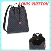 Louis Vuitton DAMIER COBALT Other Check Patterns Casual Style Unisex Canvas A4 2WAY