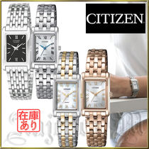 CITIZEN Metal Square Quartz Watches Elegant Style Analog Watches