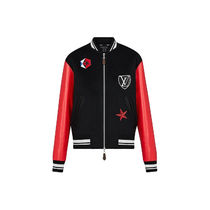 Louis Vuitton Short Street Style Bi-color Varsity Jackets