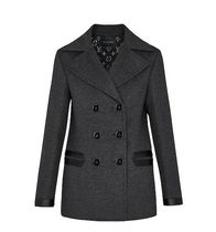 Louis Vuitton Short Wool Blended Fabrics Street Style Plain Peacoats