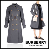 Burberry Other Check Patterns Long Trench Coats