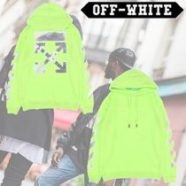 Off-White Long Sleeves Cotton Hoodies