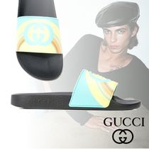 GUCCI Tropical Patterns Street Style Shower Shoes PVC Clothing