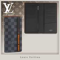 Louis Vuitton DAMIER COBALT Street Style Long Wallets