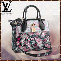 Louis Vuitton CITY STEAMER Flower Patterns Blended Fabrics 3WAY Bi-color Leather