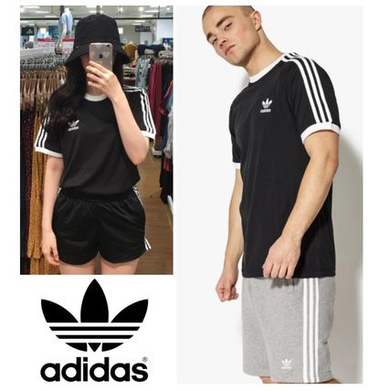adidas More T-Shirts Unisex Plain Cotton Short Sleeves T-Shirts