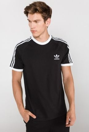adidas More T-Shirts Unisex Plain Cotton Short Sleeves T-Shirts 3