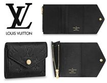 Louis Vuitton ZOE Monogram Unisex Plain Leather Folding Wallets