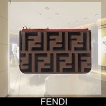 FENDI Unisex Leather Coin Purses