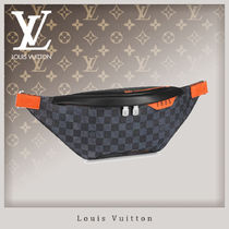 Louis Vuitton DAMIER COBALT Unisex Canvas Blended Fabrics Hip Packs