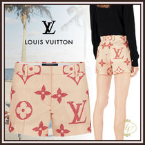 Louis Vuitton MONOGRAM Short Monogram Casual Style Silk Collaboration Shorts
