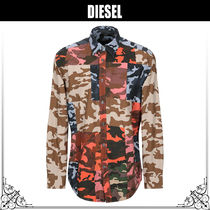 DIESEL Camouflage Blended Fabrics Street Style Long Sleeves Cotton
