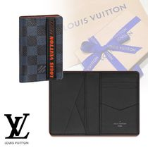 Louis Vuitton DAMIER COBALT Other Check Patterns Canvas Blended Fabrics Stationary