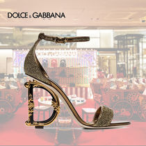Dolce & Gabbana Leather Pin Heels Party Style Sandals