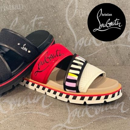new concept 797ad b0e8b Christian Louboutin 2019 SS Street Style Plain Leather Sport Sandals Shoes  (1191434CN1H)