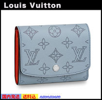 Louis Vuitton MAHINA Unisex Folding Wallets