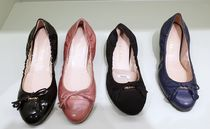 PRADA Enamel Plain Ballet Shoes