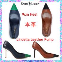 Ralph Lauren Plain Leather Pin Heels Elegant Style