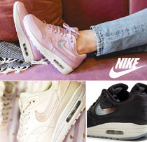 Nike AIR MAX 1 Casual Style Blended Fabrics Street Style Leather Logo