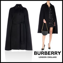Burberry Other Check Patterns Cashmere Plain Long Ponchos & Capes