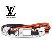 Louis Vuitton DAMIER Other Check Patterns Blended Fabrics Leather Bracelets