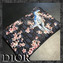 Christian Dior Flower Patterns Nylon Clutches