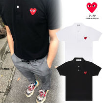 COMME des GARCONS Heart Unisex Short Sleeves Polos