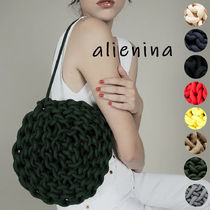 alienia Casual Style 2WAY Plain Handmade Shoulder Bags