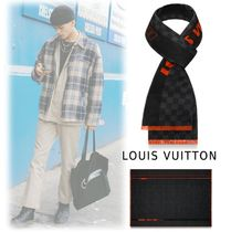 Louis Vuitton 2019-20AW NEON  SCARF black one size scarf