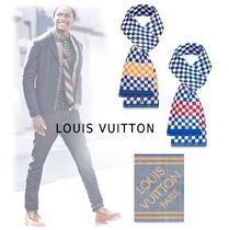 Louis Vuitton 2019-20AW COLORFUL FRINGED SCARF orange, bordeaux free