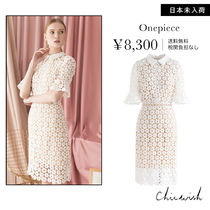 Chicwish Flower Patterns Plain Dresses
