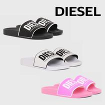 DIESEL Casual Style Street Style Plain Shower Shoes Flat Sandals