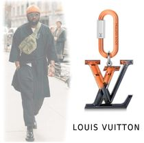 Louis Vuitton 2019-20AW LV LOGO BAG CHARM&KEY HOLDER orange&black one size